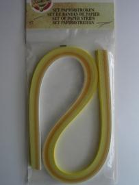 pakje tissue vlechtstroken assortiment geel 5mm breed
