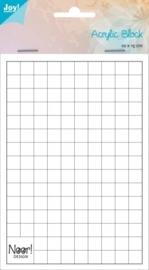 JOY6200/0231- acrylbloc voor clearstamps 10x15cm en 1cm dik