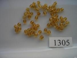 40 stuks tsjechische kristal geslepen glaskralen okerbruin 4mm 1305