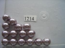15 x glasparels 12mm licht paars 12006/1214