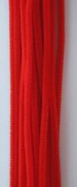 CE800700/7103- 20 stuks chenille draden van 30cm lang en 6mm dik rood