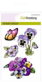 CE130501/1247- Craft Emotions clearstamps A6 - sweet violets no.1