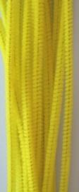 CE800700/7107- 20 stuks chenille draden van 30cm lang en 6mm dik geel