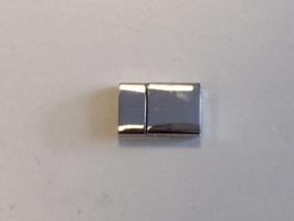 CE430508/3311- magneetsluiting voor platte veter 24x15mm platinum
