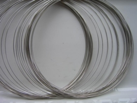 Memory Wire spiraaldraad voor nekring ca. 35 wikkels van 0.6mm dik - 117463/1002