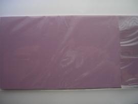 08144- 10 x luxe vierkanten kaarten linnenstructuur 13.5x13.5cm licht lila SPECIALE AANBIEDING