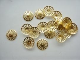 20 x kralenkapjes 13mm goud - SUPERLAGE PRIJS! CH.015.20