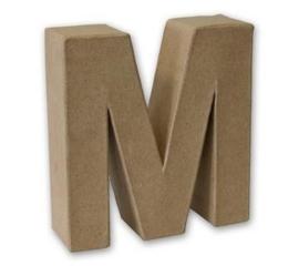 1929 3113- stevige decoratie letter van papier mache - 3D letter M