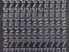 312- cijfers zwart 10x20cm