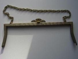 54 - tasbeugel met ketting 26cm brons