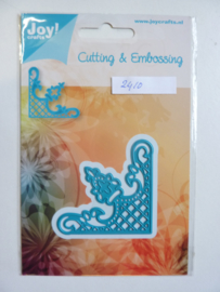 0002410- Joy Crafts stencil hoek 5.5x5.5cm - OPRUIMING