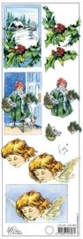 kn/555- 3D knipvel Marianne design `huisje & engel` 10.5x29.7cm - 117141/5431