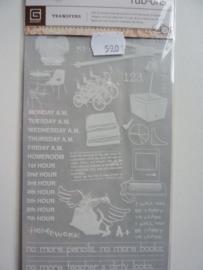 5901- Basic Grey rub-ons school 21x11cm OPRUIMING