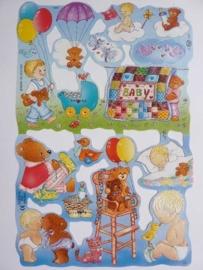 """p0015043- nostalgisch pöezie plaatje """"kinderen"""" 24x15cm"""