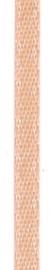 006302/0220- 4.5 meter satijnlint van 10mm breed op een rol abrikoos