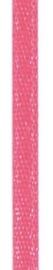 006302/0224- 4.5 meter satijnlint van 10mm breed op een rol neon roze