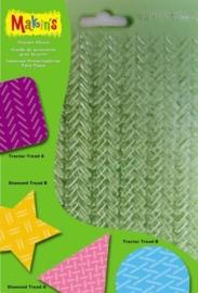 0CE117918/8007- Makin`s Clay structuurset G 17.5x11.5cm 4 verschillende sheets