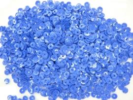10gram (is grote hoeveelheid) facon (geribbeld) pailletten 4mm donkerblauw