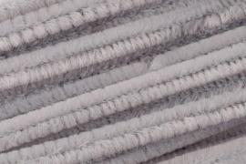 8476 632- 10 stuks chenille draad van 50cm lang en 8mm breed grijs