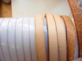 1 meter echt leren platte veter naturel van 5mm breed  - SUPERLAGE PRIJS!