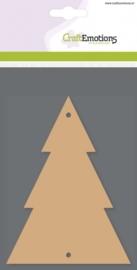 CE812301/0109- 3 stuks MDF basisvormen kerstboom van 10x13.5cm