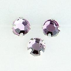 107005/0004- 28 stuks glazen rijg/naai strass steentjes 5mm rond kristal amethyst