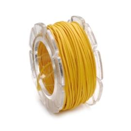 2290 612- 2 meter waxcord met nylonkern geel 2mm dik