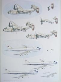 kn/467- A4 knipvel AANBIEDING vliegtuigen