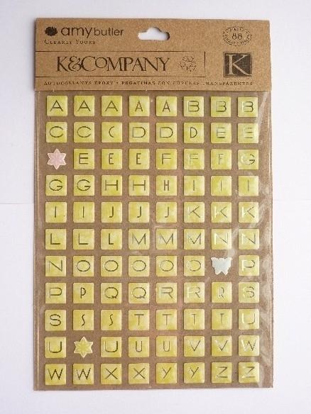 5630- K&Co epoxy 3D stickers alfabet 1cm blokjes