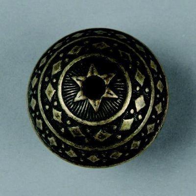 metalen kraal antiek goud 28x20mm 117465/2656