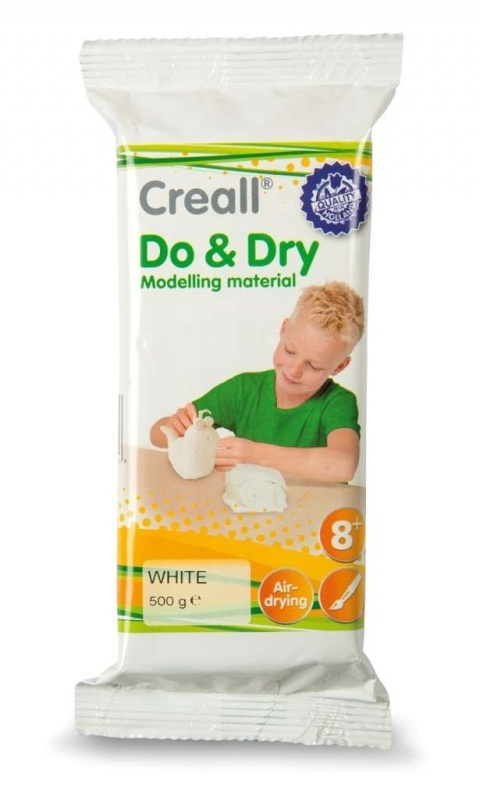CE610105/6011- boetseerklei Do&Dry airdrying wit 500gram