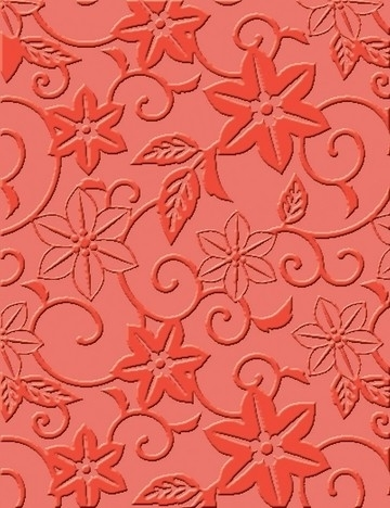 "1856 9009- Craft Concepts embossing stencil ""in bloom"" 11x14.5cm"