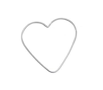 metalen hart van 28cm  -  6785 050
