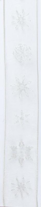 CE544344/2571- 10 meter lint met zandkleurige ijskristallen 25mm breed