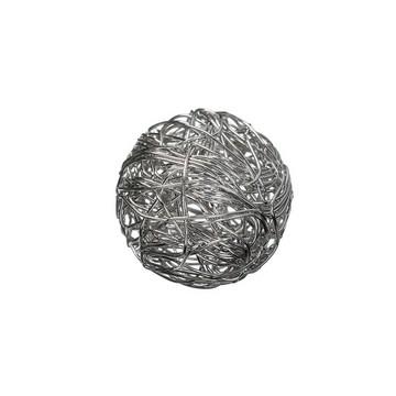 002365 101- draadomwonden grote ronde kraal 16mm doorsnee staalkleur