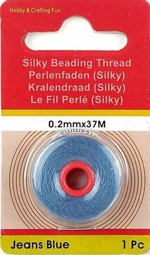 117708/5006- 37 meter synthetisch rijgdraad 0.2mm jeans blauw