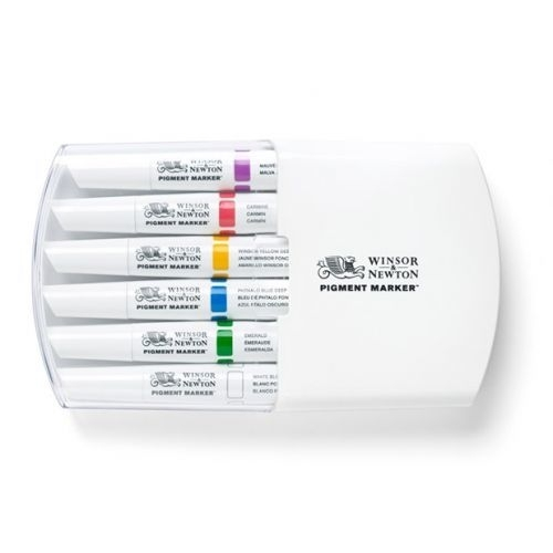 JOY-C0290043- Winsor Newton pigment marker set - 6 stuks rich tones
