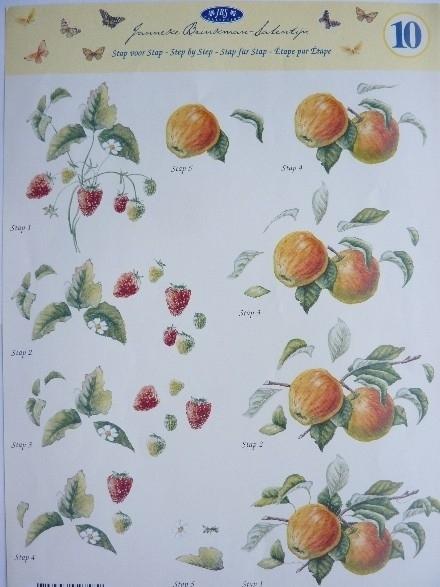kn/853- A4 3D knipvel Janneke Brinkman appels OPRUIMING