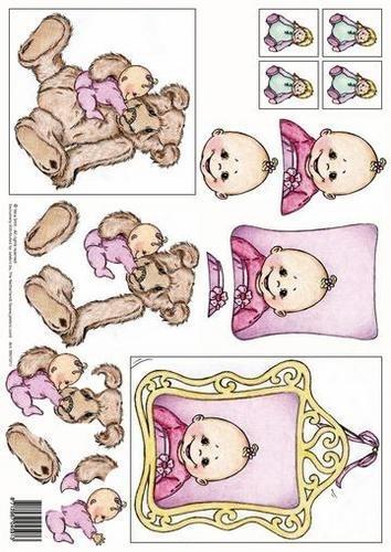 kn/1584- A4 knipvel Vera Smit baby meisje - 117140/3101