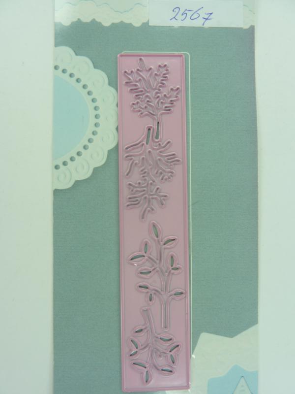 0002567- Joy Crafts stencil nr. 0023 - rand met plantjes 13x25cm OPRUIMING