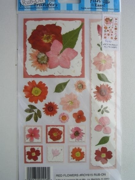 5010- bloemen Rub-on transfer