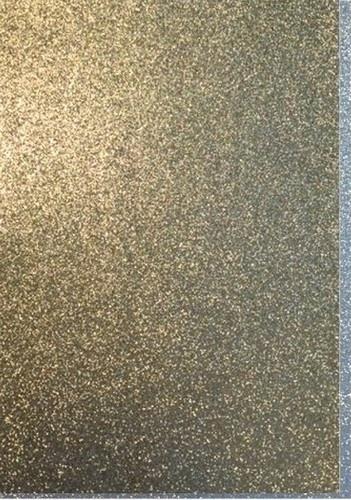 CE800201/1532- 5 stuks foam vellen van 22x30cm en 2mm dik goud glitter