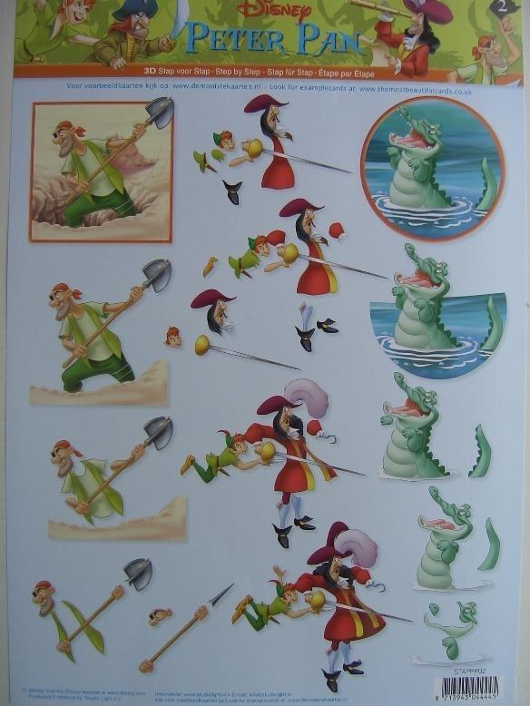 kn/599- A4 knipvel Disney Peter Pan nr.2