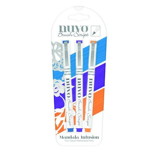 CE309908/6113- Nuvo brush script pens - mandala infushion 113N - 3 stuks