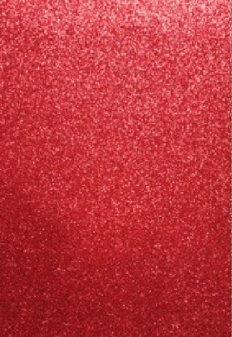 CE800201/1534- 5 stuks foam vellen van 22x30cm en 2mm dik rood glitter