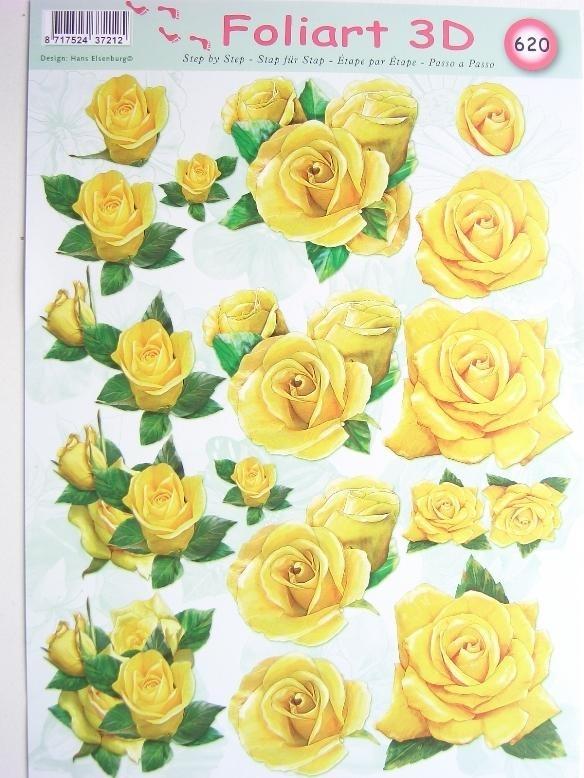 kn/458- A4 knipvel AANBIEDING foli art no.620 bloemen