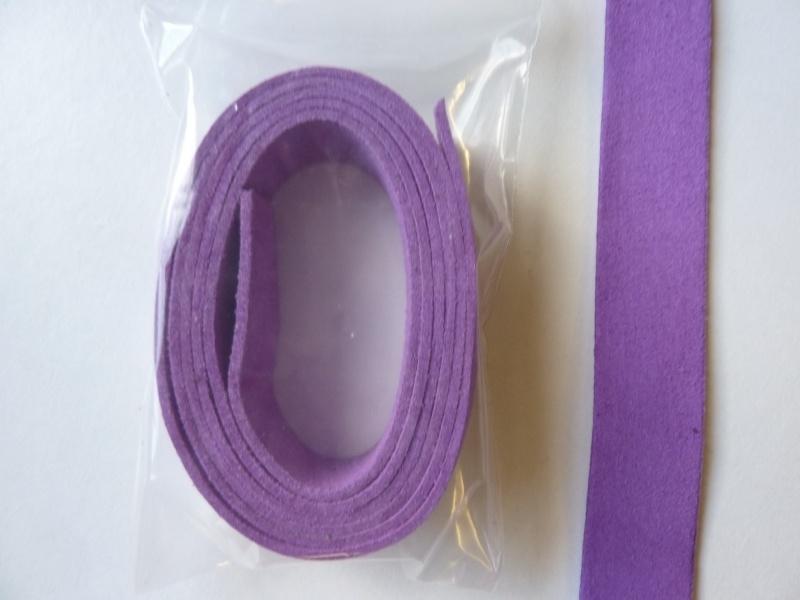 1 meter imitatie suede veter van 20mm breed violet