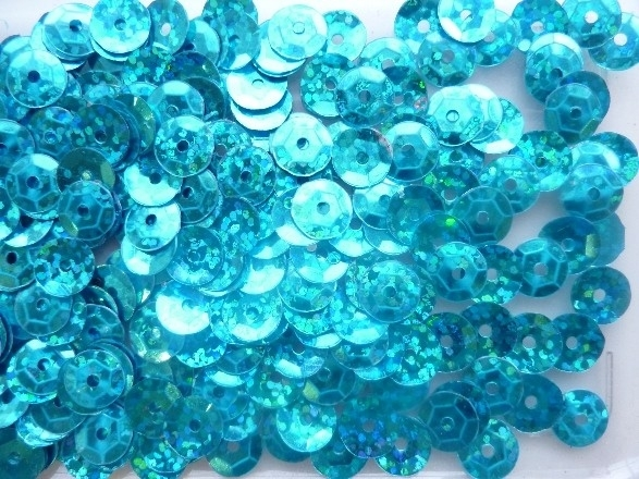 118372/474- 10gram facon pailletten van 8mm in glitter lichtblauw (grote hoeveelheid!)
