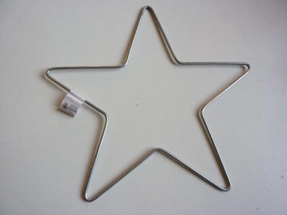 metalen ster van 15cm doorsnee  -  6785 239