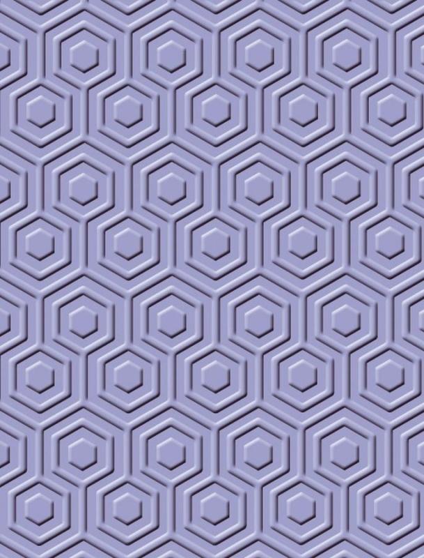 "1856 9025- Craft Concepts embossing stencil ""hexagon"" 11x14.5cm"